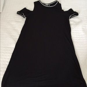 Black open cut dress